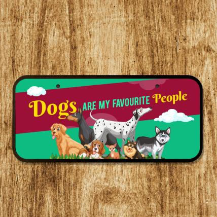 Cute Dog Home Plaque