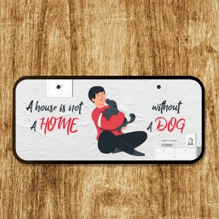 Dog Lover Cute Home Plaque
