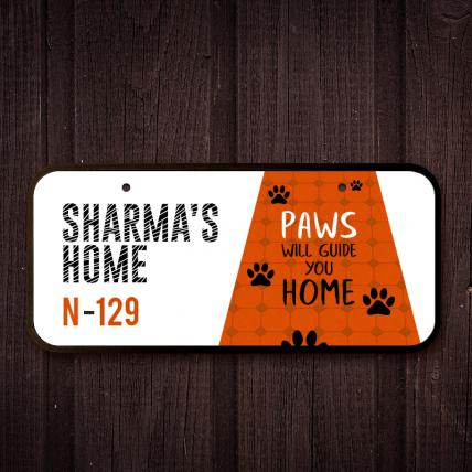 Cute Paws Name Plate