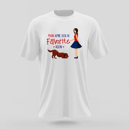 Main Apne Dog Ki Favourite Hoon T Shirt