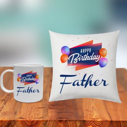 Father Cushion Mug Set