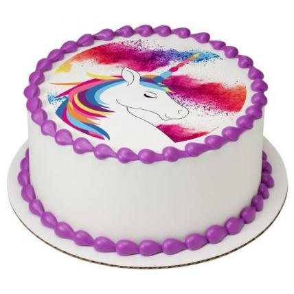 Cute Unicorn Photo Cake