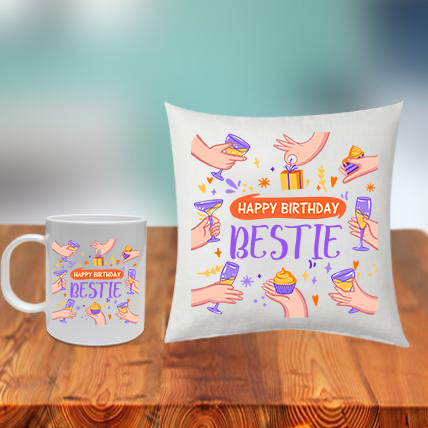 Friend Birthday Cushion Mug Combo
