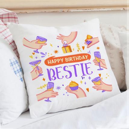 Special Bestie Birthday Cushion