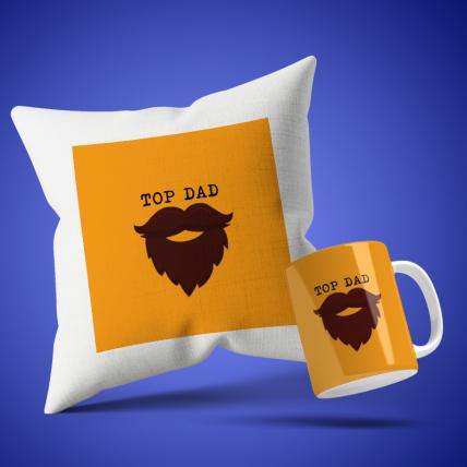 Top Dad Cushion Mug Set