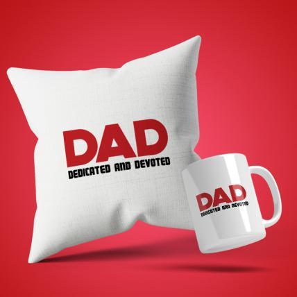 Dedicated dad Cushion Mug Set