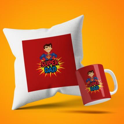 Super Cool Dad Cushion Mug Set