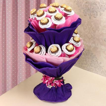 Pink Forrero Chocolate Bouquet