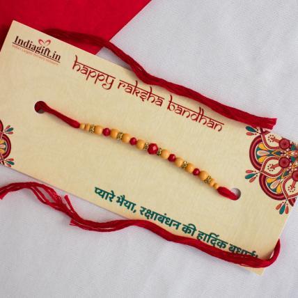 Special Leaf Pearl Rakhi