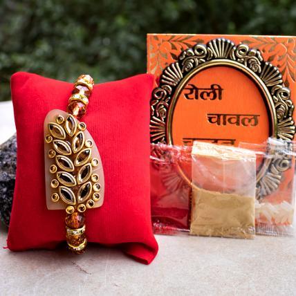 Kundan Designer Rakhi