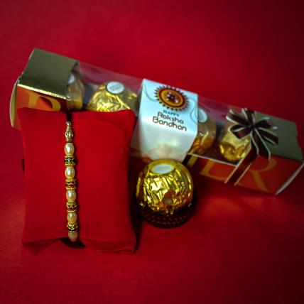 Pearly Rakhi with Forrero Rocher