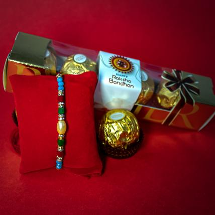 Colourful Rakhi with Forrero Rocher