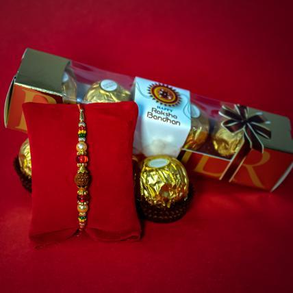 Rudraksh Rakhi & Chocolate Set