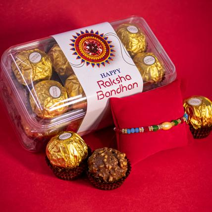 Pearly Rakhi and 16pc Forrero Rocher