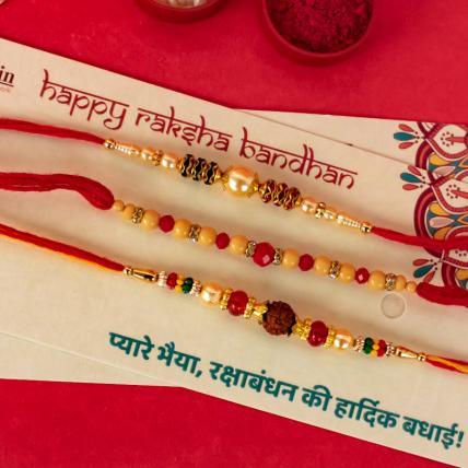 Mouli Rudraksh Rakhi Combo