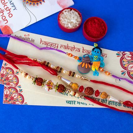 Pearl Rakhi Combo of 4