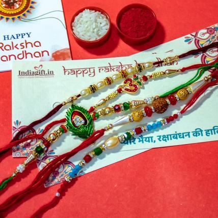 Beautiful Rakhi Combo of 5
