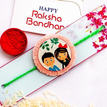 Handmade Cute Seed Rakhi