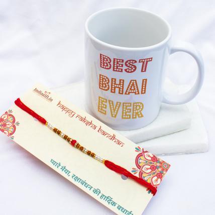 Best Bhai Ever Mug Rakhi Combo