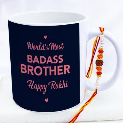 Badass Brother Mug Rakhi Combo