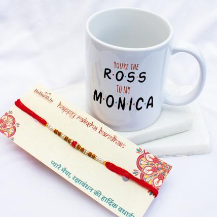 Ross Monica Mug Rakhi Combo