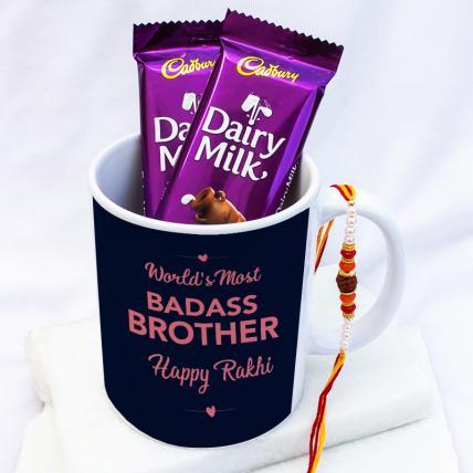 Badass Brother Rakhi Gift Combo