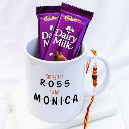 Ross Monica Rakhi Gift Combo