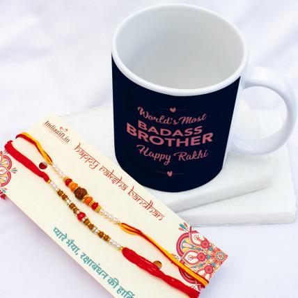 Badass Brother Mug & Rakhis Combo