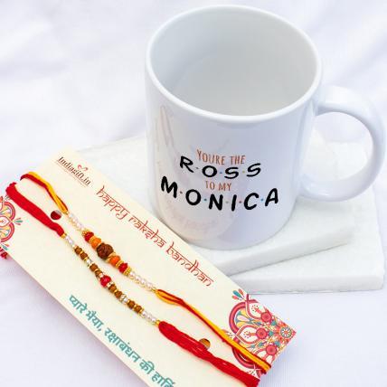 Ross Monica Mug & Rakhis Combo