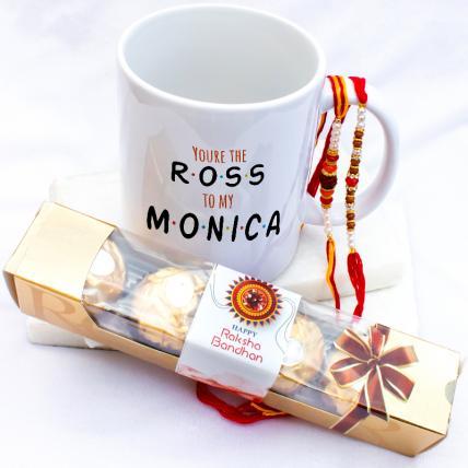 Ross Monica Mug with Rakhi & Forrero Rocher