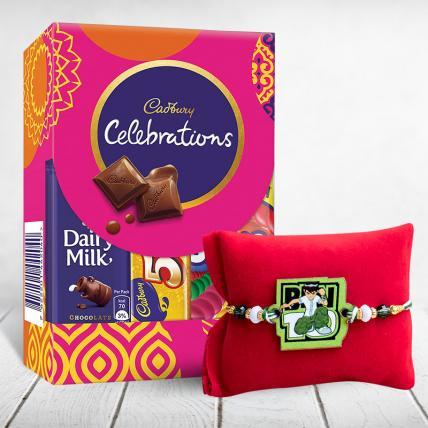 Ben 10 Kids Rakhi with Chocolates Pack