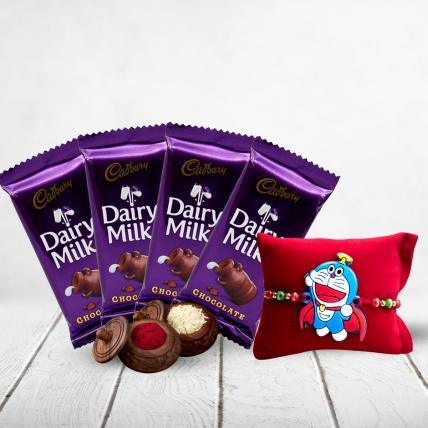 Cadbury Dairy Milk Silk with Kids Rakhi