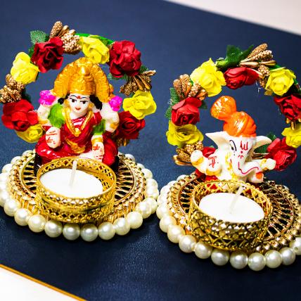 Lakshmi Ganesh Diya Set