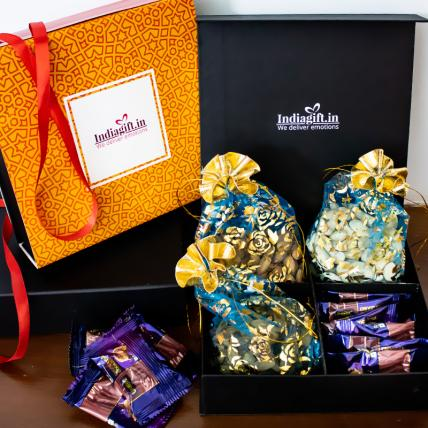 Dry Nuts with Cookies Diwali Box