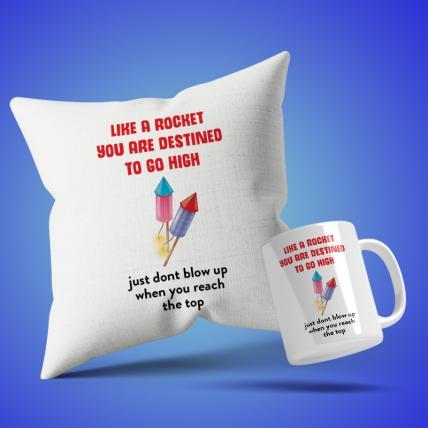 Rocket Cushion Mug Set